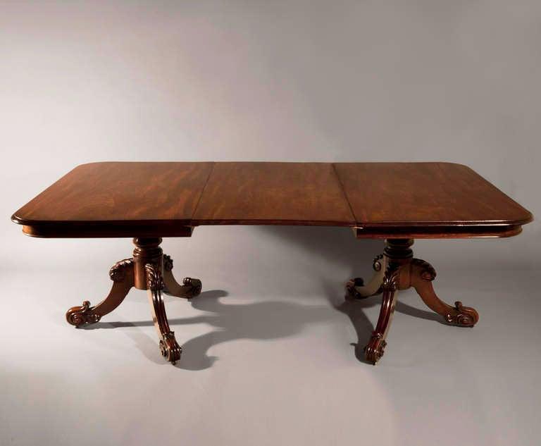 Irish Mahogany Two Pedestal Dining Table Circa 1845 At 1stdibs