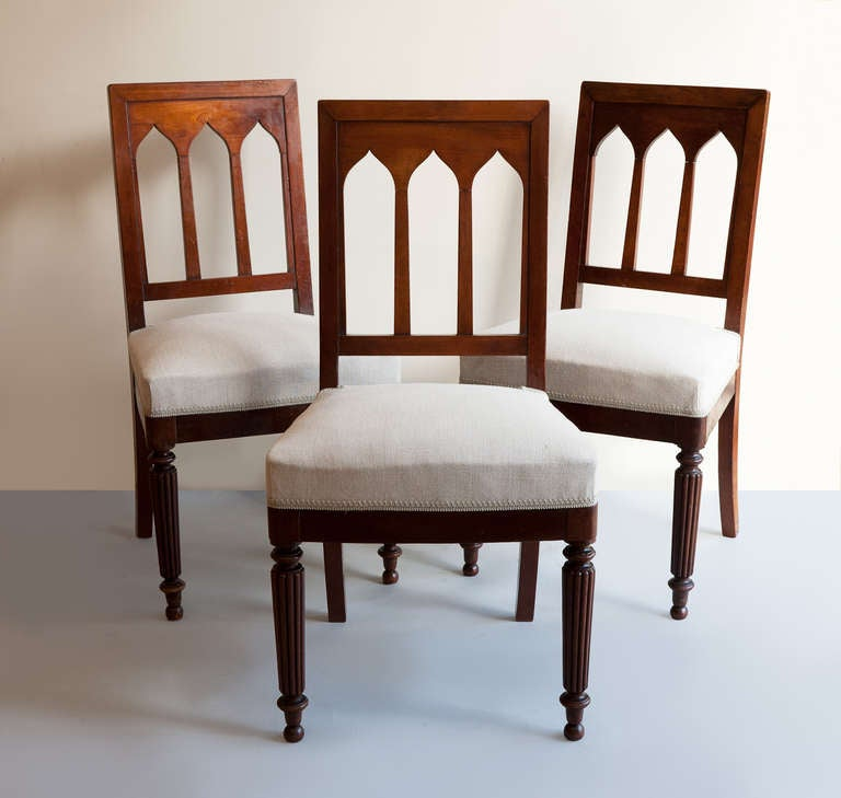 A set of nine louis philippe mahogany dining chairs at 1stdibs for Mahogany dining room chairs