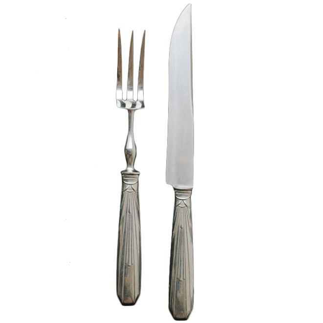 French art deco carving knife and fork at stdibs