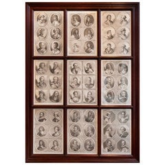 Framed 18th Century Prints Of Famous Painters By Philipp Kilian