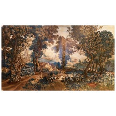 Very Large Verdure Aubusson Tapestry Cartoon C. 1880