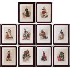 A Set Of Ten Framed Lithographs 'The Clans Of The Scottish Highlands' C. 1860