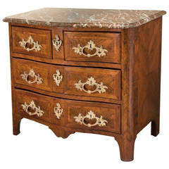 Louis XV Ormolu Mounted Kingwood Marquetry Commode, circa 1750