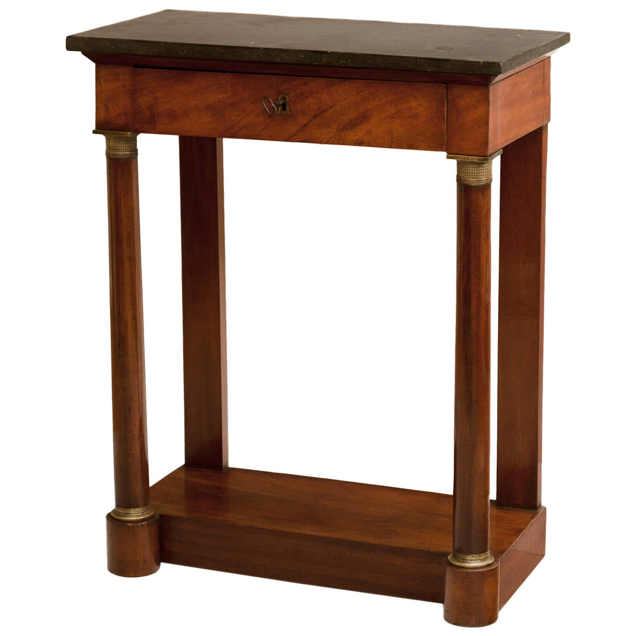 Small empire mahogany console table at 1stdibs for Table console