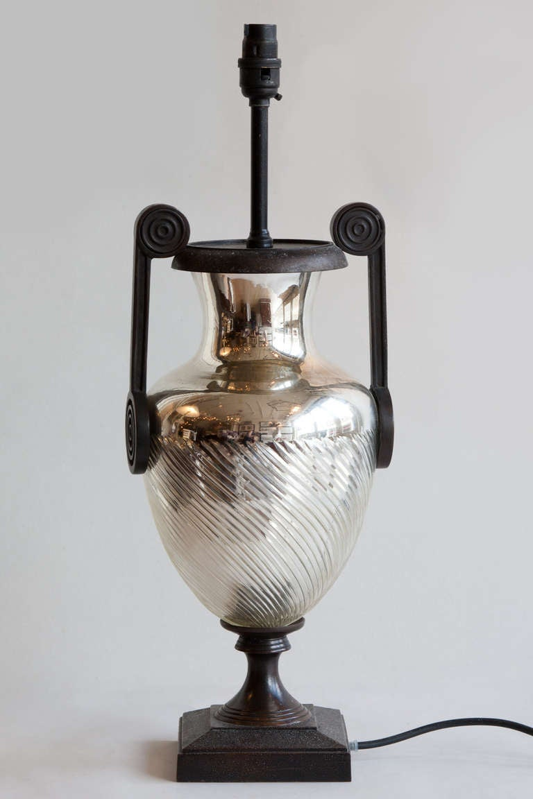 urn shaped mercury glass table lamp at 1stdibs. Black Bedroom Furniture Sets. Home Design Ideas