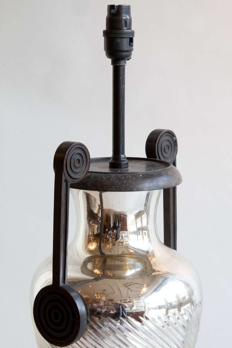 this urn shaped mercury glass table lamp is no longer available. Black Bedroom Furniture Sets. Home Design Ideas