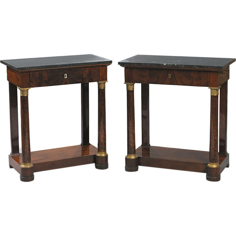 Near pair of empire console tables at 1stdibs for Sofa table near me