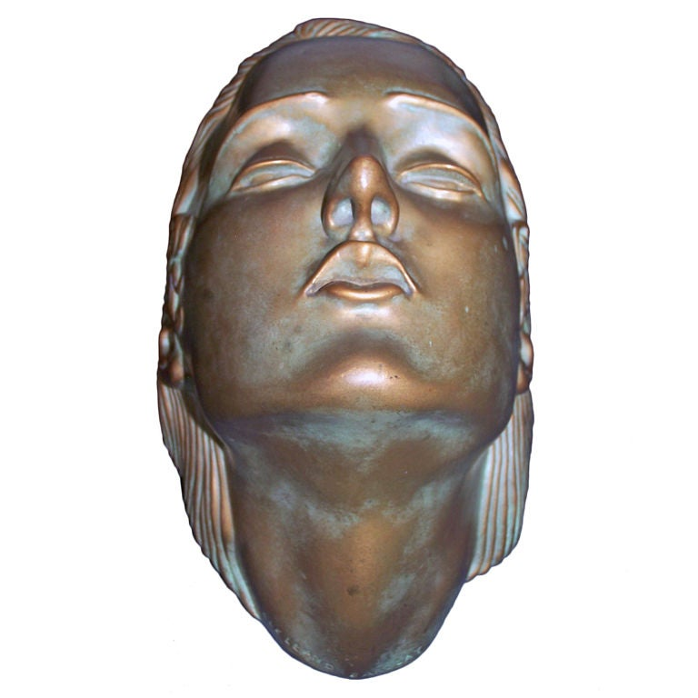 Mcclelland Barclay S Bronze Face Of A Woman At 1stdibs