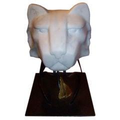 Italy Marble Sculpture of a Jaguar
