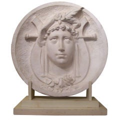 Plaster Roundel of an Allegorical Female Figure