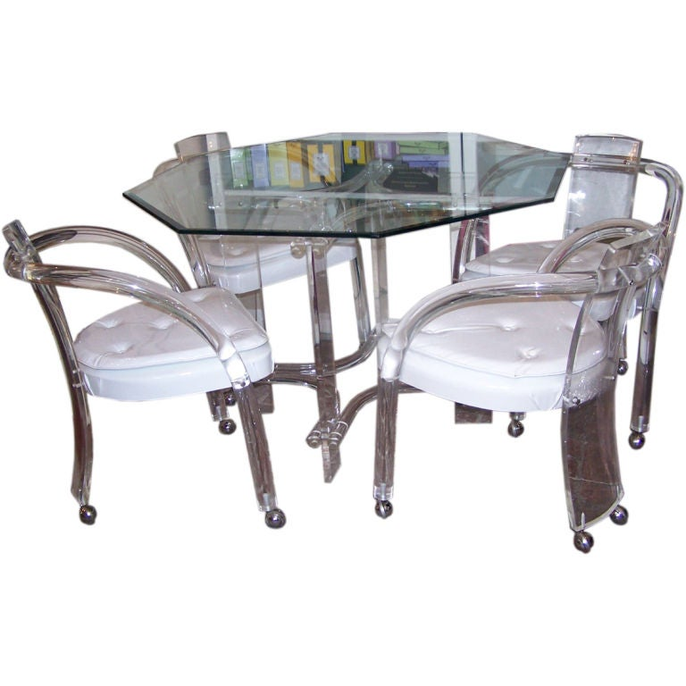 Mid Century Lucite Dining Set With Table And Chairs At 1stdibs
