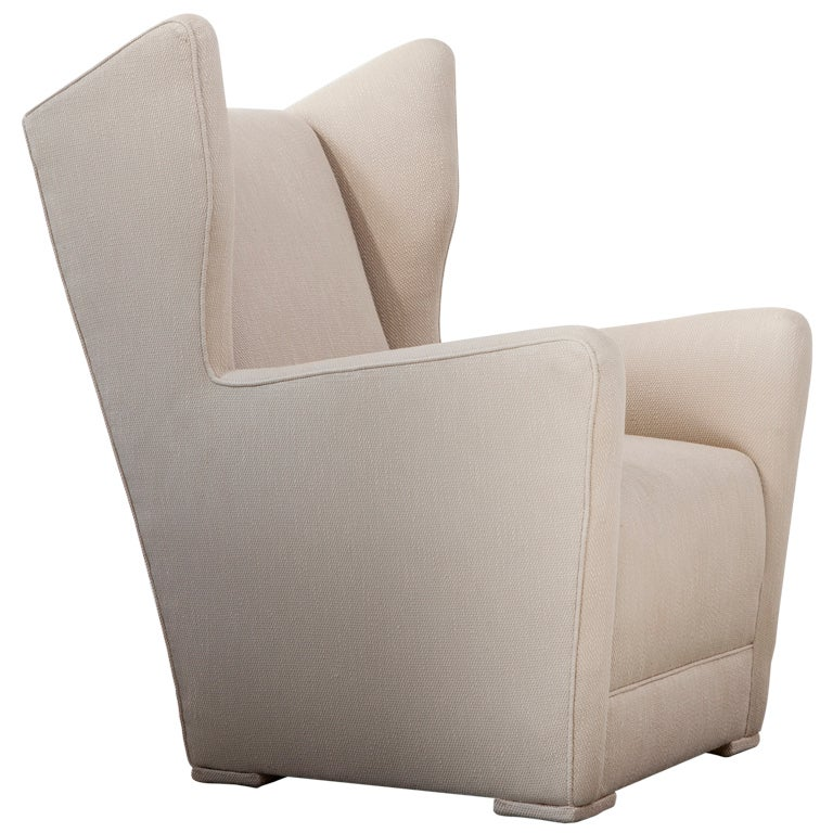 Unique Upholstered Chairs: Unique Upholstered Wing-back Lounge Chair