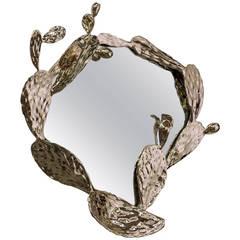 Unique Nopales Wall Mirror in Bronze by David Wiseman, American, 2015