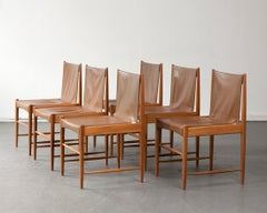"Set of Six ""Cantu"" Chairs by Sergio Rodrigues, Brazil, circa 1959"