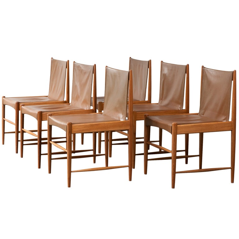 "Set of Six ""Cantu"" Chairs by Sergio Rodrigues, Brazil, circa 1959"
