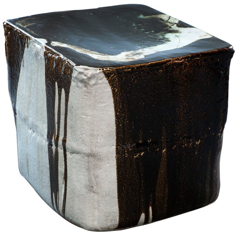 Ceramic stool by Hun-Chung Lee For Sale