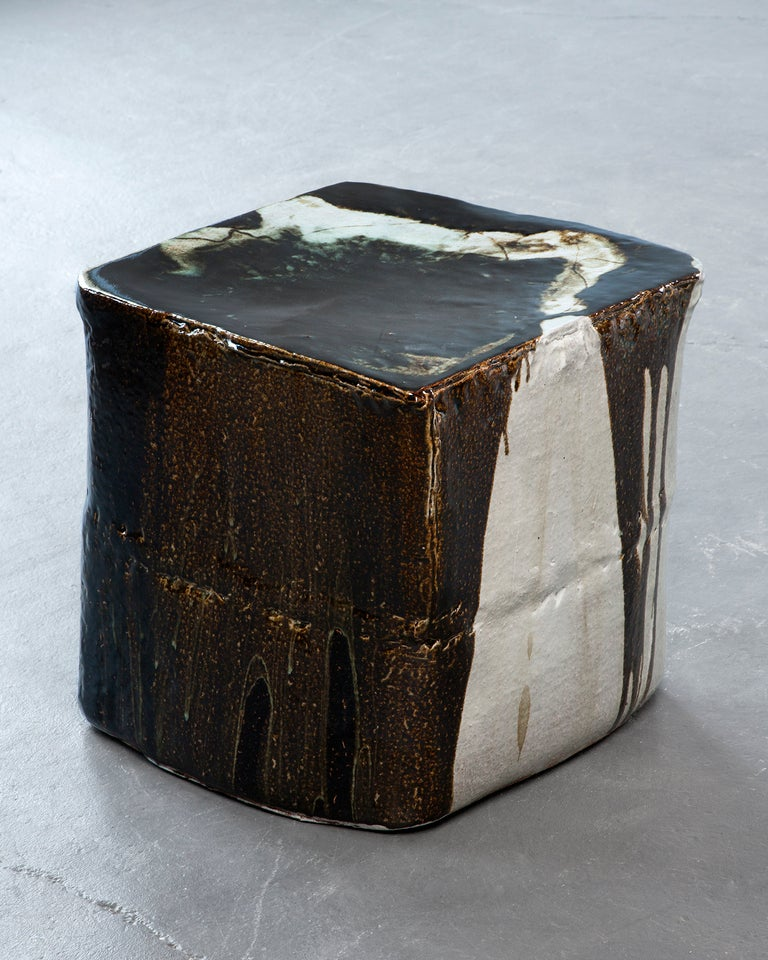 Ceramic stool in traditional glaze. Designed and made by Hun-Chung Lee, Korea, 2012.