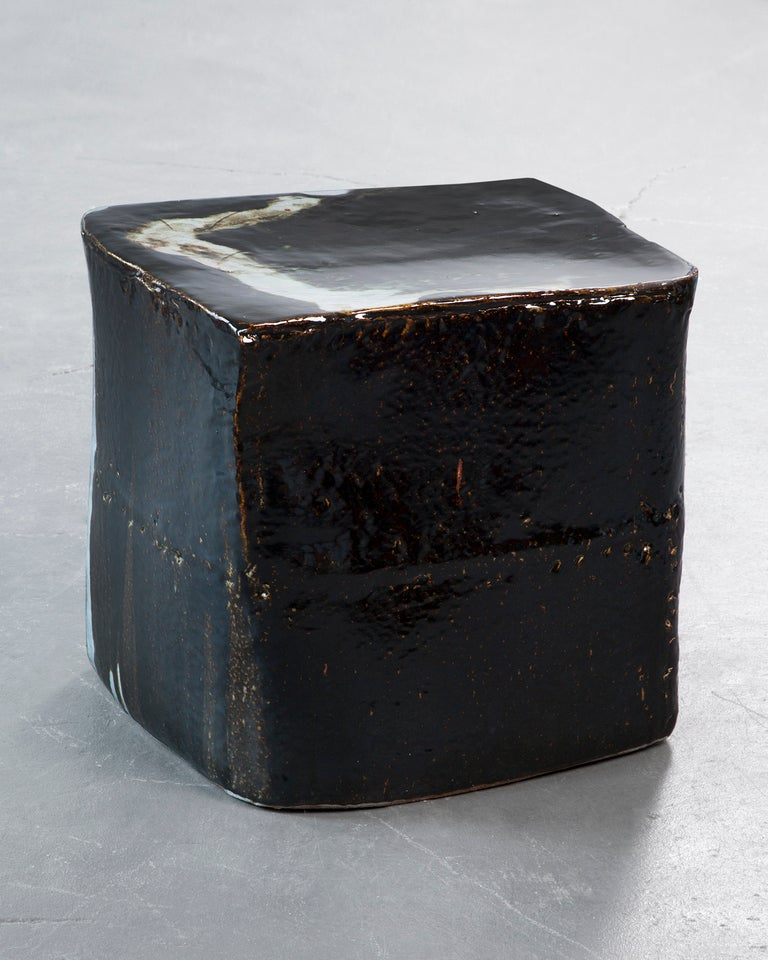 South Korean Ceramic stool by Hun-Chung Lee For Sale