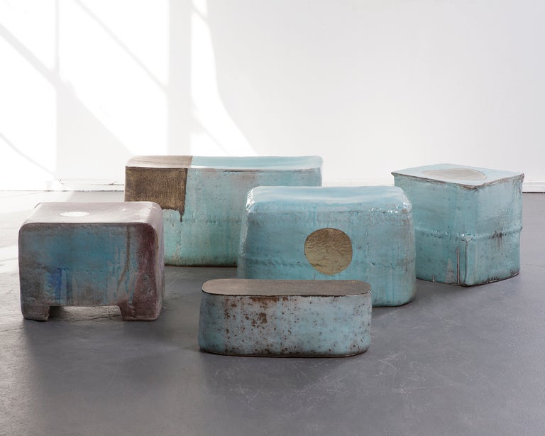 Contemporary Ceramic stool by Hun-Chung Lee For Sale