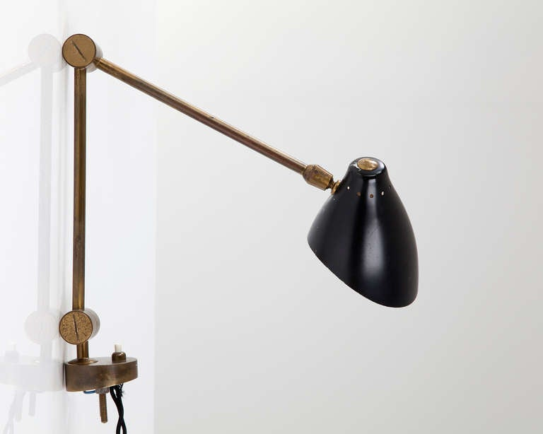 Wall Mount Lamp Shades : Wall-Mounted Lamp with Pivoting Shade at 1stdibs