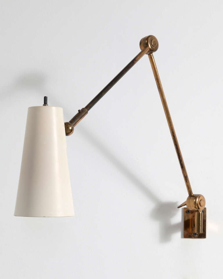 Wall-mounted Lamp In Brass at 1stdibs