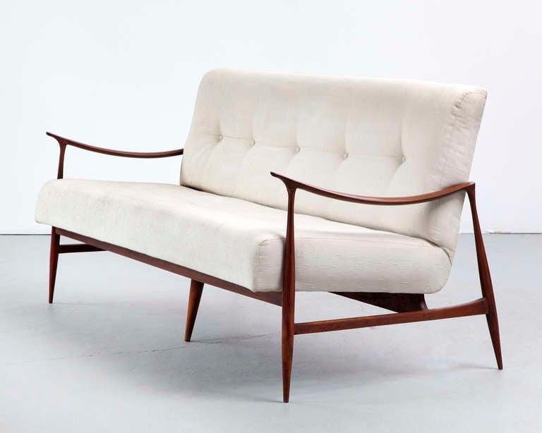 Brazilian Sofa in Caviona Wood by Jorge Zalszupin, Brazil, 1959 2