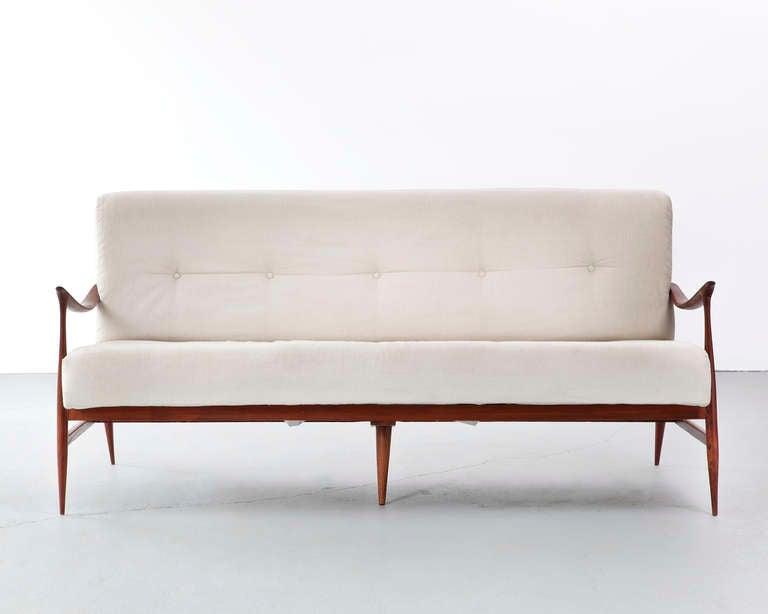 Brazilian Sofa In Caviona Wood 1959 At 1stdibs