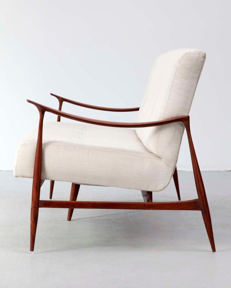 Brazilian Sofa in Caviona Wood by Jorge Zalszupin, Brazil, 1959 4