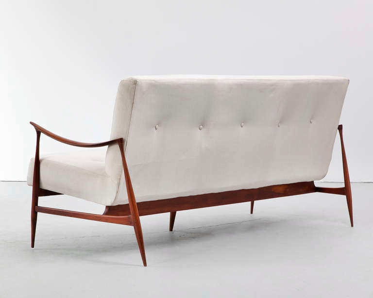 Brazilian Sofa in Caviona Wood by Jorge Zalszupin, Brazil, 1959 5
