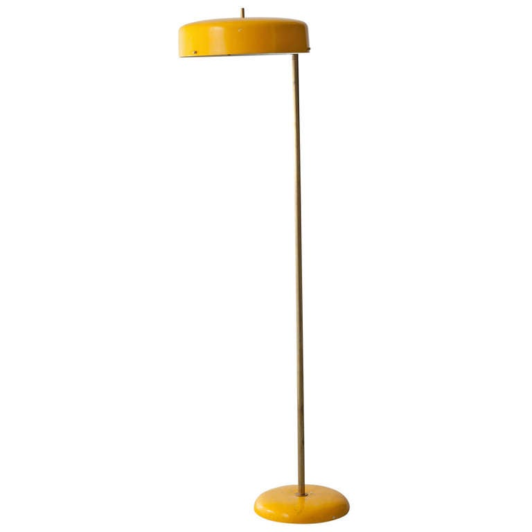 Floor lamp in yellow at 1stdibs for Macey floor lamp yellow