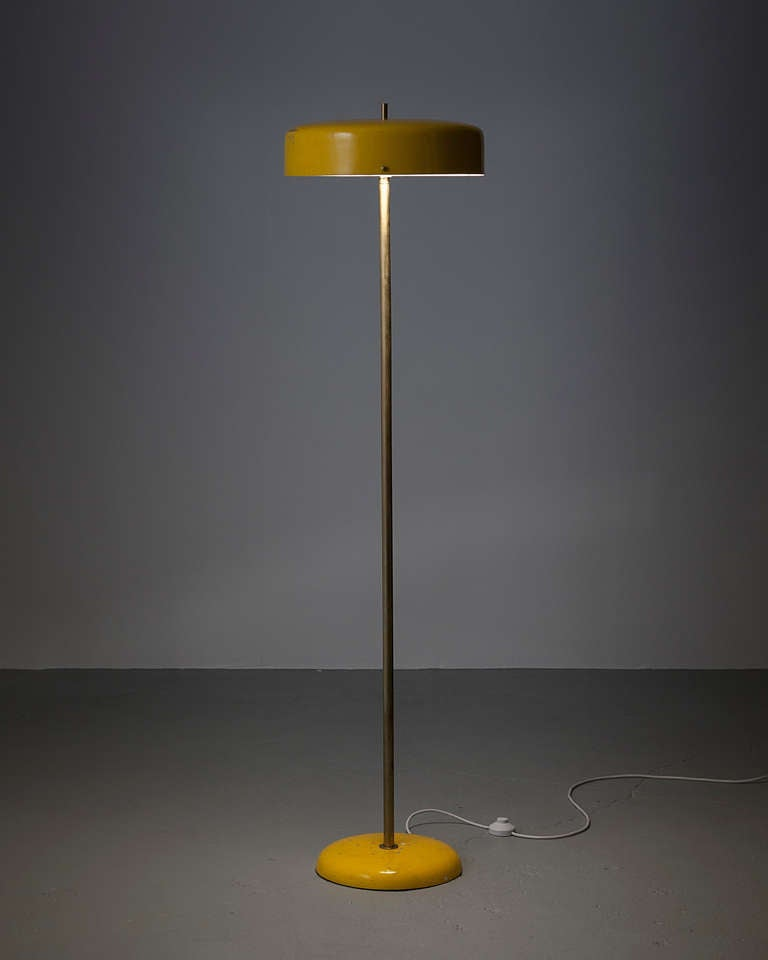 Floor Lamp In Yellow At 1stdibs