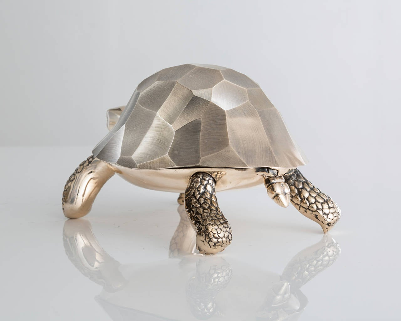 SM5637.  Unique turtle box in polished bronze. Designed and made by David Wiseman, USA, 2014. Edition of 12 and two artist proofs. Signed and numbered, DW11.