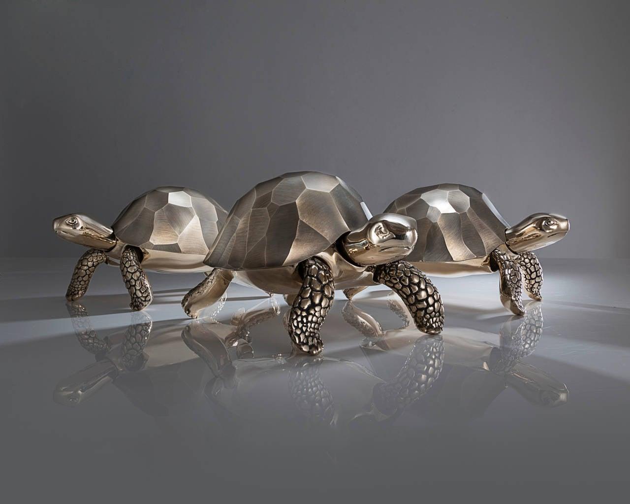 Unique Bronze Turtle Box by David Wiseman, 2014 1