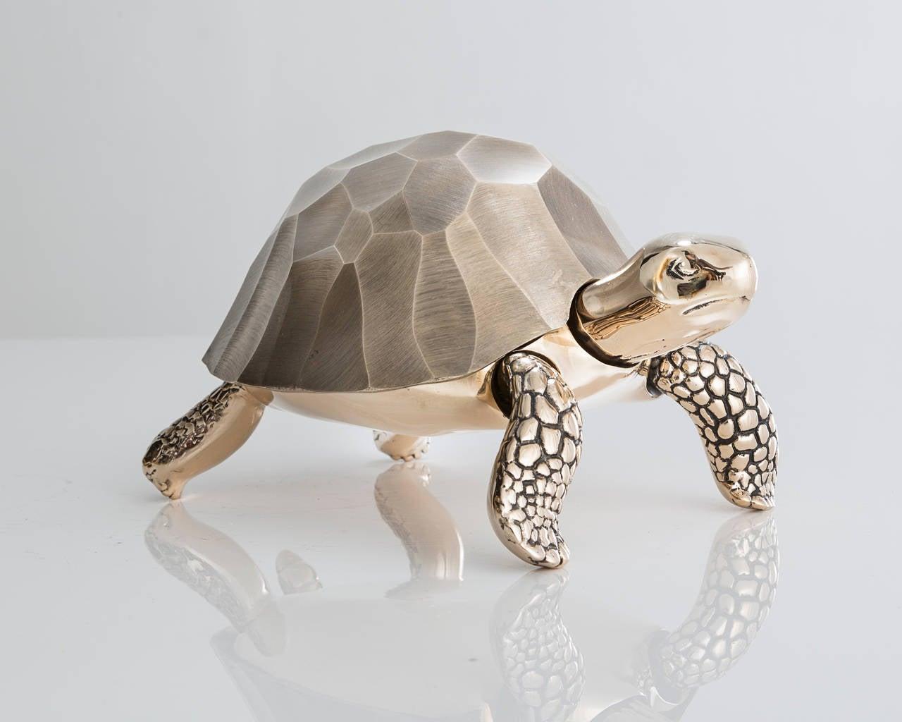 American Unique Bronze Turtle Box by David Wiseman, 2014