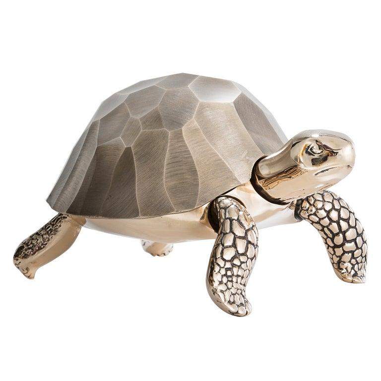 Unique Bronze Turtle Box by David Wiseman, 2014