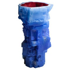 Assemblage Vessel in Blue, Designed and Made by Thaddeus Wolfe, 2015
