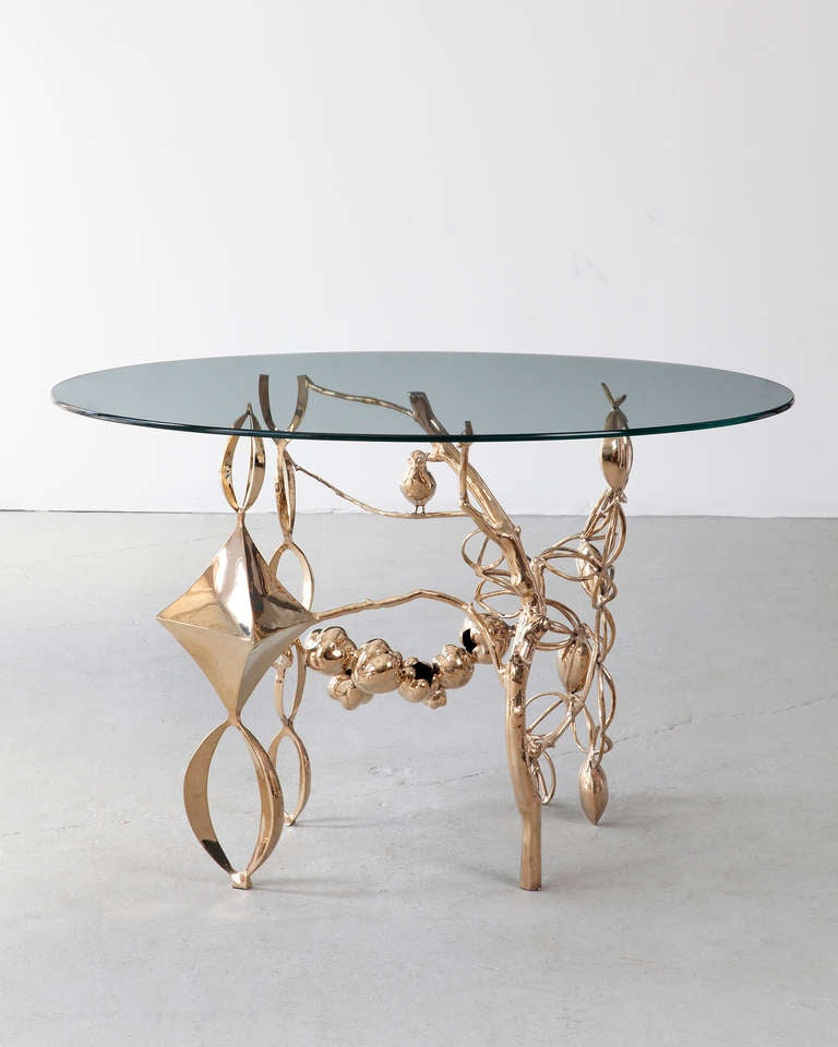 unique collage side table by david wiseman at 1stdibs. Black Bedroom Furniture Sets. Home Design Ideas