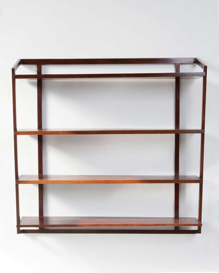 wall mounted shelving unit in jacaranda by joaquim