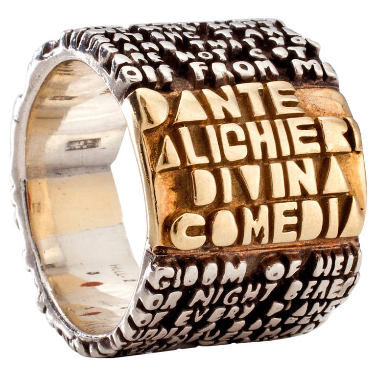"""18-Karat Gold and Sterling Silver """"Cantos"""" Series Ring by Anne Fischer"""