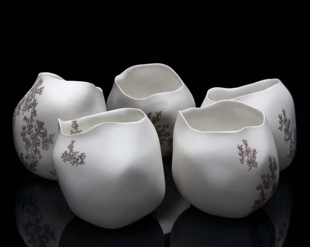 Contemporary Unique Rock Vase by David Wiseman