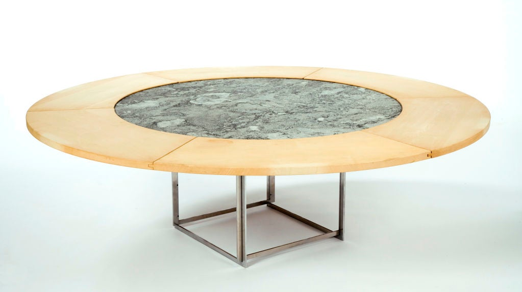 Pk  Round Dining Table By Poul Kjaerholm At Stdibs