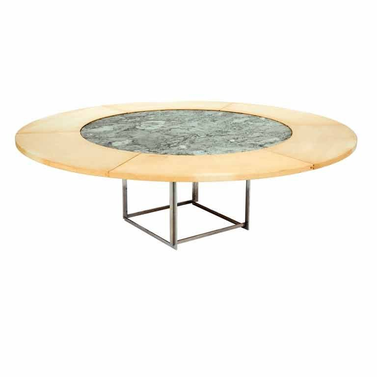 pk 54 round dining table by poul kjaerholm at 1stdibs. Black Bedroom Furniture Sets. Home Design Ideas