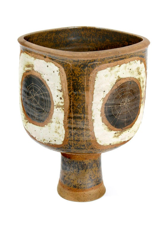 Hand thrown art pottery vase at 1stdibs
