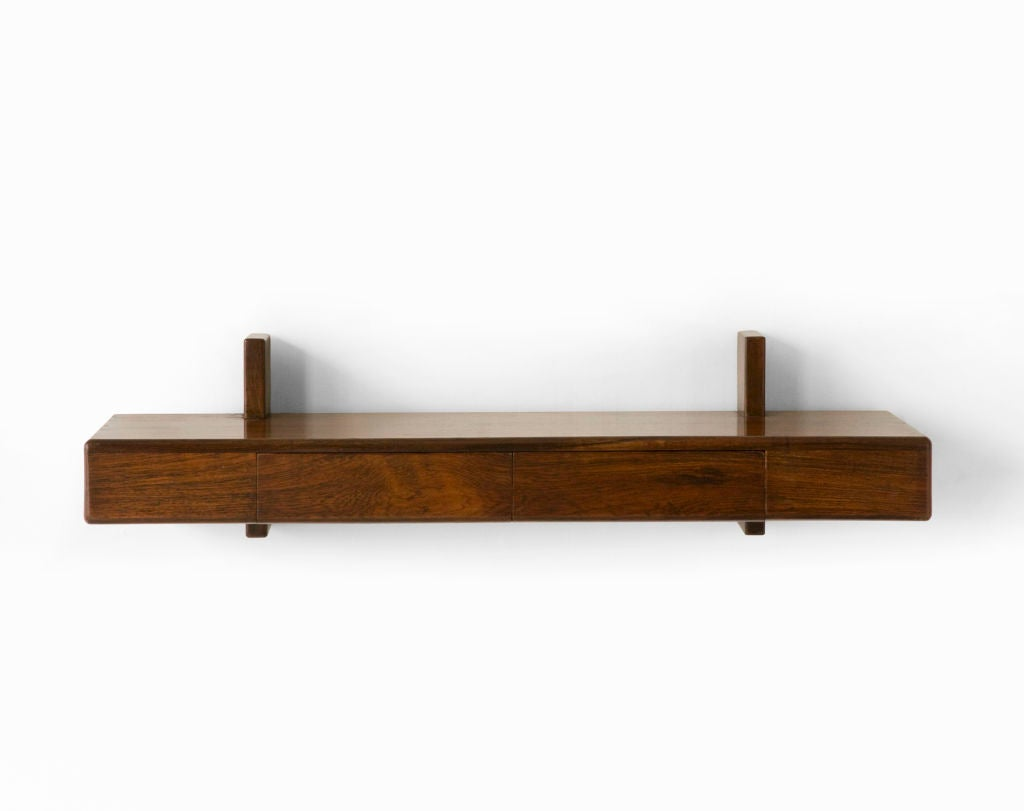 Brazilian wall mounted shelf at 1stdibs Wall mounted bookcase shelves