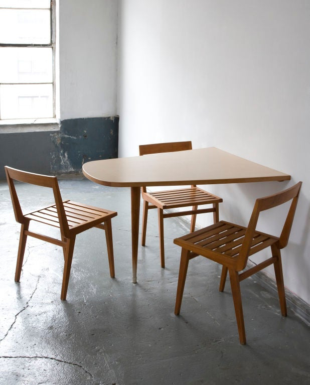 Wall Mounted Dining Table by Joaquim Tenreiro at 1stdibs : 877113104113073 from www.1stdibs.com size 618 x 767 jpeg 64kB