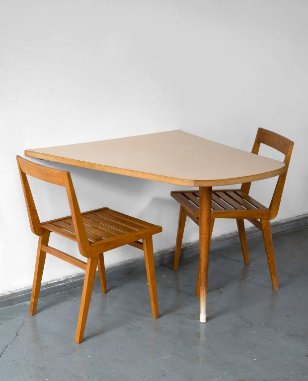 Wall mounted dining table by joaquim tenreiro brazil - Wall mounted table kitchen ...