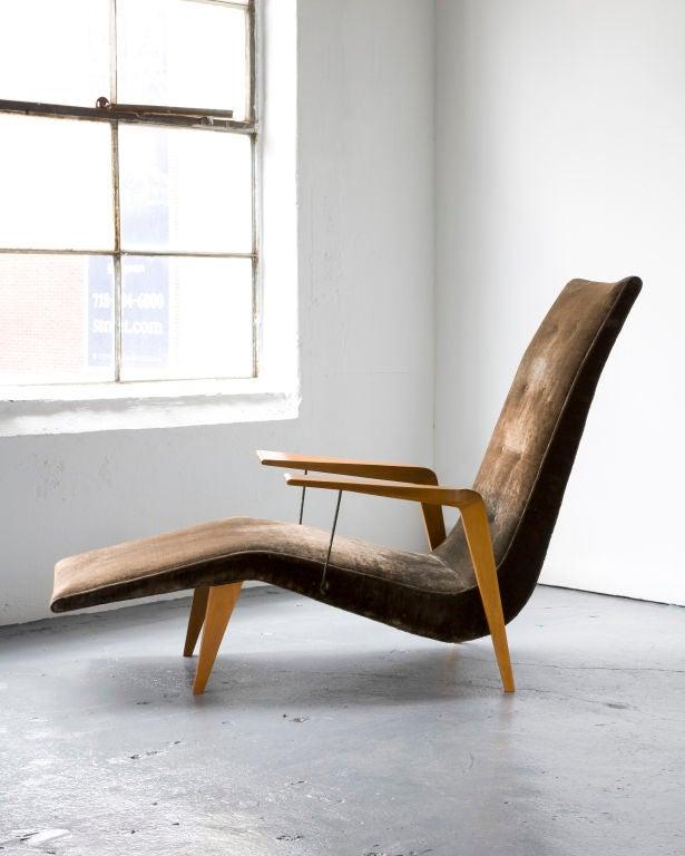 Chaise lounge by Joaquim Tenreiro 3