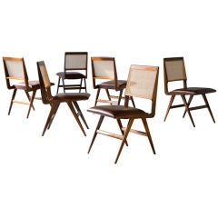 Set of six chairs by Carlo Hauner and Martin Eisler