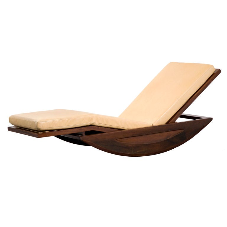 Chaise longue rocking chair by joaquim tenreiro at 1stdibs for Chaise x rocker