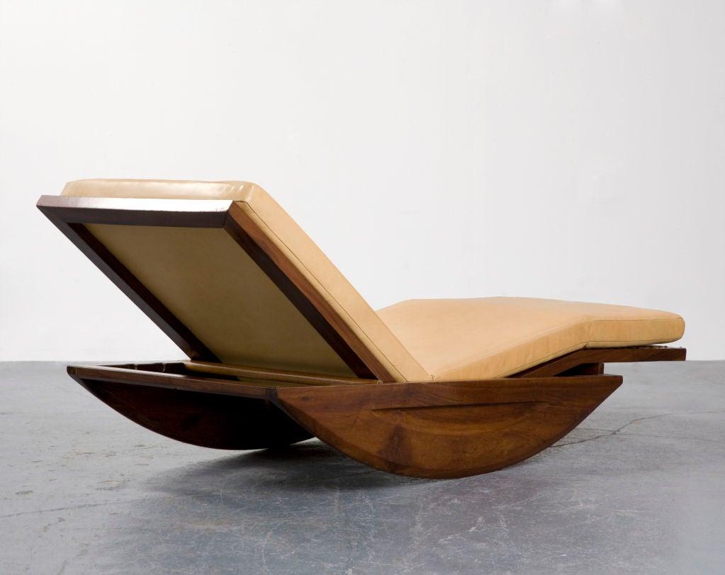 chaise longue rocking chair by joaquim tenreiro at 1stdibs. Black Bedroom Furniture Sets. Home Design Ideas
